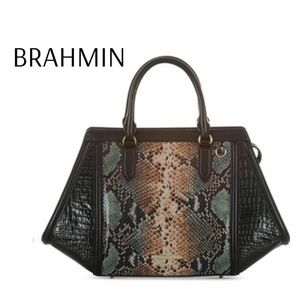 Brahmin Arden Satchel Serpentine Patchouli